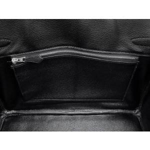 エルメス バーキン30 cm ハンドバッグ ブラック×シルバー金具 クロコダイル ニロティカス シャイン Q刻印 HERMES Birkin バッグ 黒|gallery-rare|04