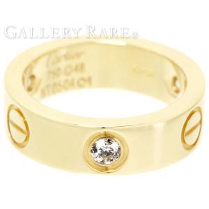カルティエ リング ラブリング ハーフダイヤ ダイヤモンド K18YGイエローゴールド リングサイズ48 B4032400 Cartier 指輪 ジュエリー ダイアモンド|gallery-rare