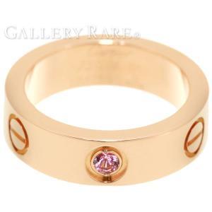 カルティエ リング ラブリング 1Pサファイヤ ピンクサファイヤ K18PGピンクゴールド リングサイズ51 B4064400 Cartier 指輪 ジュエリー サファイア|gallery-rare