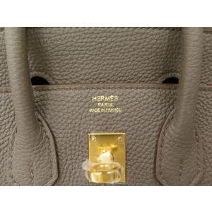 エルメス バーキン 25 cm ハンドバッグ エタン×ゴールド金具 トゴ R刻印 HERMES Birkin バッグ|gallery-rare|03