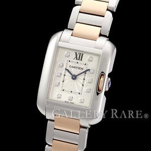 カルティエ タンク アングレーズ SM 11Pダイヤ ダイヤモンド 0.05ct K18PGピンクゴールド WT100024 Cartier 時計 レディース gallery-rare