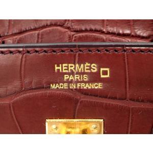 エルメス バーキン 25 cm ハンドバッグ ルージュアッシュ×ゴールド金具 クロコダイル アリゲーター マット T刻印 HERMES|gallery-rare|03