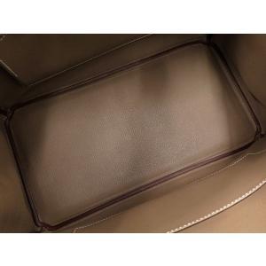 エルメス バーキン35 cm ハンドバッグ エトゥープ×シルバー金具 ヴォーエプソン Q刻印 HERMES Birkin バッグ|gallery-rare|03