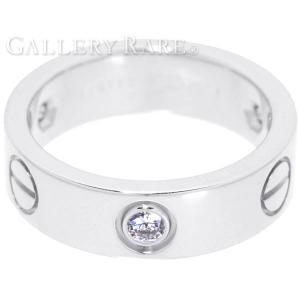 カルティエ リング ラブリング 3Pダイヤ ダイヤモンド K18WG サイズ51|gallery-rare