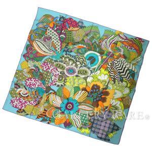 エルメス スカーフ カレ 90 シルクツイル インドの花 Fleurs Dindiennes HERMES シルクスカーフ|gallery-rare