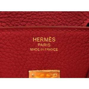 エルメス バーキン 25 cm ハンドバッグ ルビー×ゴールド金具 トゴ T刻印 HERMES Birkin バッグ|gallery-rare|03