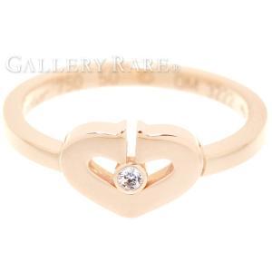 カルティエ リング Cハート 1Pダイヤ ダイヤモンド K18PGピンクゴールド リングサイズ50 B4078750 Cartier 指輪 ジュエリー ダイアモンド|gallery-rare