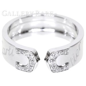カルティエ リング 2C モチーフ ダイヤモンド K18WGホワイトゴールド 2007年クリスマス限定 リングサイズ52 Cartier ジュエリー 指輪 ダイアモンド C2|gallery-rare