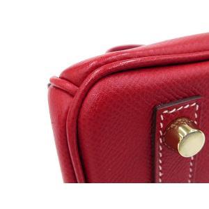 エルメス バーキン25 cm ハンドバッグ ルージュカザック×ブルータラサ×シャンパンゴールド金具 ヴォーエプソン P刻印 HERMES Birkin バッグ|gallery-rare|04