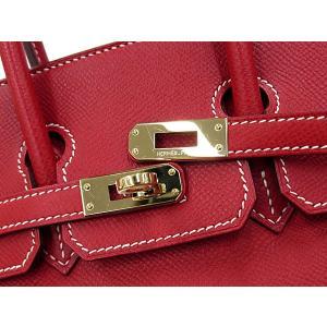 エルメス バーキン25 cm ハンドバッグ ルージュカザック×ブルータラサ×シャンパンゴールド金具 ヴォーエプソン P刻印 HERMES Birkin バッグ|gallery-rare|05