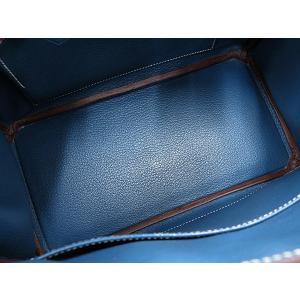 エルメス バーキン25 cm ハンドバッグ ルージュカザック×ブルータラサ×シャンパンゴールド金具 ヴォーエプソン P刻印 HERMES Birkin バッグ|gallery-rare|06