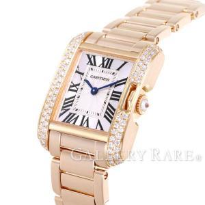 the best attitude 52226 31e82 カルティエ タンクアングレーズ SM ダイヤモンド K18PGピンクゴールド WT100002 Cartier 腕時計 レディース