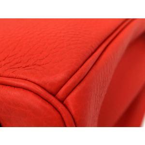 エルメス バーキン25 cm ハンドバッグ ルージュピヴォワンヌ×シルバー金具 トゴ T刻印|gallery-rare|05
