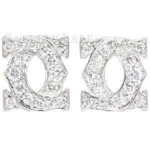 カルティエ ピアス アントルラセ ダイヤモンド K18WGホワイトゴールド Cartier ジュエリー ダイヤモンド|gallery-rare
