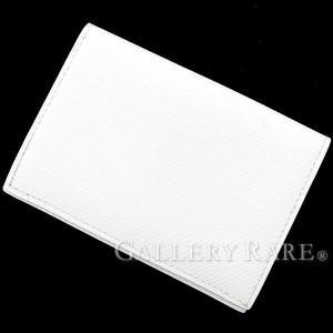 エルメス カードケース ホワイト ヴォーエプソン L刻印 HERMES パスケース gallery-rare