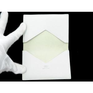 エルメス カードケース ホワイト ヴォーエプソン L刻印 HERMES パスケース gallery-rare 02