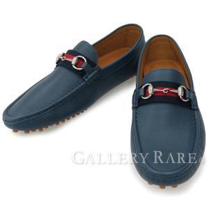グッチ ドライビングシューズ メンズサイズ 8・1/2 GUCCI 靴 メンズ デッキシューズ|gallery-rare