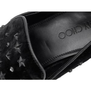 ジミーチュウ シューズ スタースタッズ クリスタル ベルベット ドレスシューズ メンズサイズ42 SLOANEVWC JIMMY CHOO 靴 スリッポン|gallery-rare|05