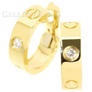 カルティエ イヤリング ラブピアス 1Pダイヤ ダイヤモンド 計0.14ct K18YGイエローゴールド B8022900 Cartier ジュエリー ダイアモンド|gallery-rare