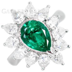 エメラルド リング エメラルド1.48ct ダイヤモンド2.10ct プラチナ900 Pt900 リングサイズ約9.5号 指輪 ジュエリー ダイアモンド|gallery-rare