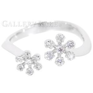 ポンテヴェキオ リング フラワー ダイヤモンド 0.18ct K18WGホワイトゴールド リングサイズ約10号 Ponte Vecchio ジュエリー 指輪 gallery-rare