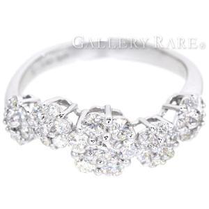 ポンテヴェキオ リング ダイヤモンド 0.80ct K18WGホワイトゴールド フラワーモチーフ サイズ約12号 Ponte Vecchio ジュエリー 指輪 gallery-rare