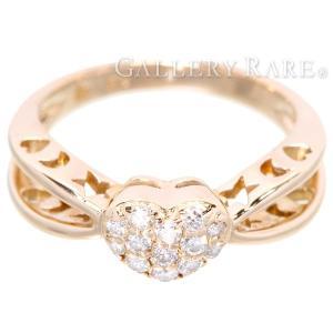 ポンテヴェキオ リング ハートモチーフ ダイヤモンド 0.20ct K18PGピンクゴールド リングサイズ10号 Ponte Vecchio PV ジュエリー 指輪 ダイアモンド gallery-rare