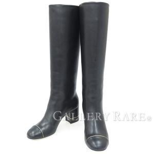シャネル ロングブーツ ラムスキン ココマーク 16B レディースサイズ36・1/2 G32122 CHANEL 靴【ファッション】|gallery-rare