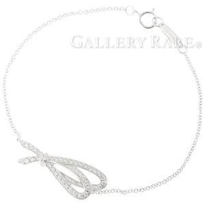 ティファニー ブレスレット ボウ ダイヤモンド 0.20ct K18ホワイトゴールド Tiffany&Co. ジュエリー リボン Sサイズ【ジュエリー】|gallery-rare