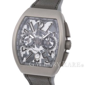 フランクミュラー ヴァンガード グレーカモフラージュ文字盤 クロノグラフ V45CCDT CAMOUFLAGE FRANK MULLER 腕時計|gallery-rare