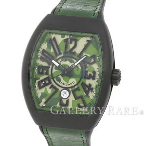 フランクミュラー ヴァンガード グリーンカモフラージュ文字盤 クロノグラフ V45SCDT CAMOUFLAGE FRANK MULLER 腕時計|gallery-rare