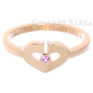 カルティエ リング Cハート 1Pサファイア サファイア K18PGピンクゴールド リングサイズ51 B4086751 Cartier 指輪 ジュエリー ダイアモンド|gallery-rare