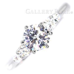 ダイヤモンド リング ダイヤモンド 中石0.522ct 脇石0.15ct プラチナ900 Pt900 リングサイズ約7号 ジュエリー 指輪 ダイアモンド|gallery-rare