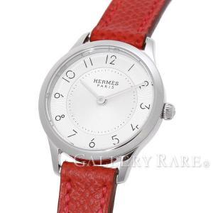 エルメス スリム ドゥ エルメス CA2.110 X刻印 HERMES レディース 腕時計 Slim d'Hermes PM 25mm ヴォーエプソン ヴァーミリオン|gallery-rare