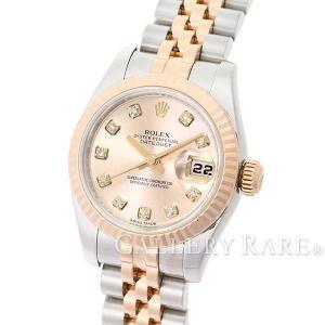 ロレックス デイトジャスト ピンク 10Pダイヤ ランダムシリアル ルーレット 179171G ROLEX 腕時計 レディース|gallery-rare
