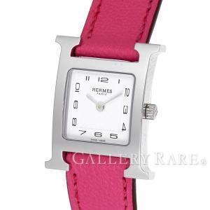 エルメス Hウォッチ レザーストラップ シェーブル X刻印 HH1.210 HERMES 腕時計 レディース|gallery-rare