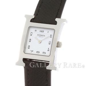 エルメス HウォッチPM レザーストラップ ヴォーエプソン HH1.210 HERMES 腕時計 レディース|gallery-rare