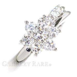 ダイヤモンド リング フラワーモチーフ ダイヤモンド 0.50ct プラチナ1000 PT1000 リングサイズ約11号 ジュエリー 指輪 ダイアモンド|gallery-rare