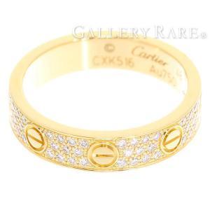 カルティエ リング ミニラブリング パヴェダイヤ ダイヤモンド 0.31ct K18YGイエローゴールド リングサイズ48 B4083300 B4083348 Cartier 指輪|gallery-rare