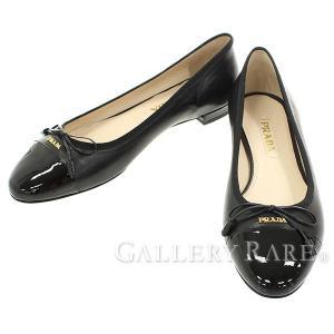 プラダ フラットシューズ レディースサイズ 38 PRADA パンプス リボン 靴|gallery-rare