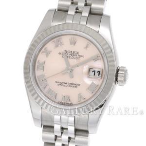 ロレックス レディデイトジャスト K18WGホワイトゴールド ピンクシェル G番 179174NR ROLEX 腕時計 レディース|gallery-rare