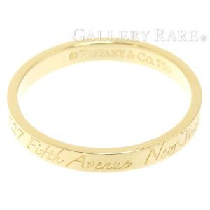 ティファニー リング ナロー ニューヨークリング K18YGイエローゴールド リングサイズ約19号 Tiffany&co. 指輪 ジュエリー|gallery-rare