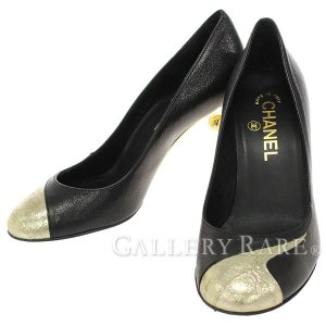 シャネル パンプス レザー メタル レディースサイズ36・1/2 08A G26234 CHANEL 靴【ファッション】|gallery-rare