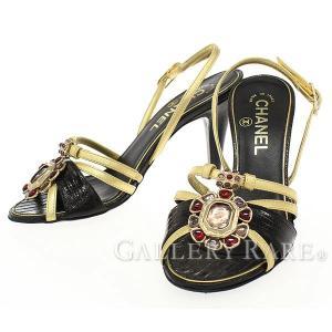 シャネル ミュール サンダル ビジュー レザー リザード レディースサイズ36 07P G25646 CHANEL 靴【ファッション】|gallery-rare