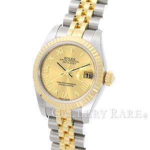 ロレックス デイトジャスト K18YGイエローゴールド ランダムシリアル ルーレット 179173 ROLEX 腕時計 レディース|gallery-rare