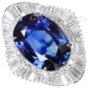 ブルーサファイア リング ブルーサファイア 11.5ct ダイヤモンド 1.96ct プラチナ900 PT900 リングサイズ約13号 ジュエリー 指輪 ダイアモンド サファイヤ|gallery-rare
