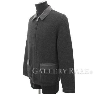 エルメス ジャケット ジップアップ ニットジャケット ウール ブラック メンズサイズM  服 【ファッション】|gallery-rare