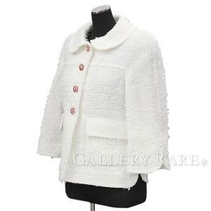 シャネル ジャケット ファンタジー ツイード レディースサイズ34 17P P56050 CHANEL 服 ドレス ココマーク|gallery-rare