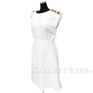 シャネル ワンピース ファンタジー ツイード レディースサイズ38 17P P56049 CHANEL 服 ドレス ココマーク|gallery-rare