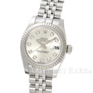 ロレックス デイトジャスト K18WGホワイトゴールド 10Pダイヤ ランダム番 179174G ROLEX 腕時計 レディース|gallery-rare